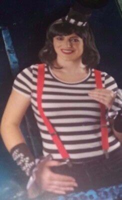 Adult`s Mime Fancy Dress Outfit