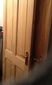 Internal pine doors 2 No four panel Doors £20 each