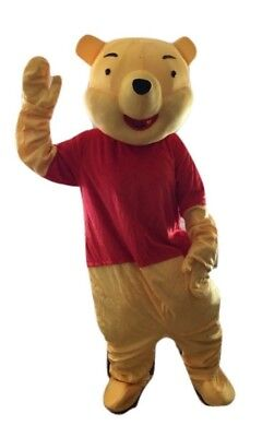 New Adult Size Cartoon Movie Mascot Costume Winnie the Pooh Bear Halloween USA