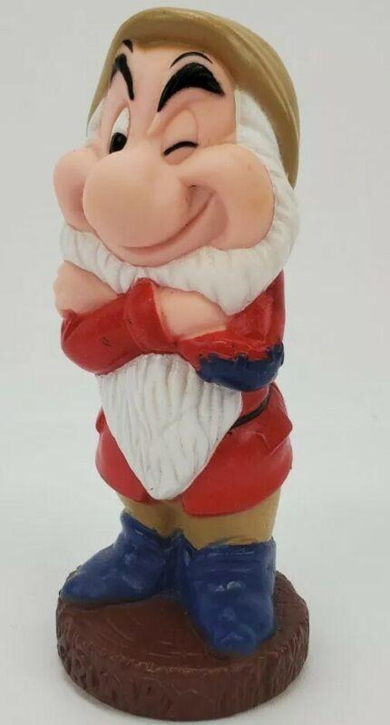 Vintage Grumpy Disney Rubber Squeak Toys Snow White & The Seven Dwarfs Squeaker
