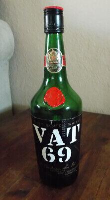 VINTAGE VAT 69 SCOTCH WHISKEY BOTTLE - NO ALCOHOL