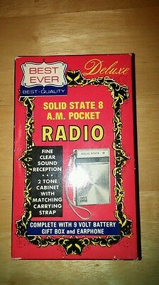 Best Ever Solid State 8 tranistor a.m. radio vintage