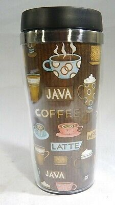 16 oz Stainless Steel Travel Tumbler Coffee Cups Design T3