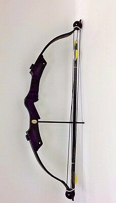 Bear Archery Brave 2 Bow With 2 Arrows, Black, Right Hand