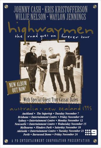 The Highwaymen 1995 concert poster print
