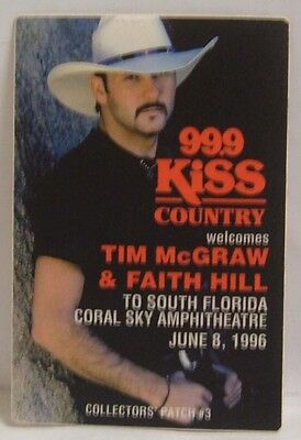 TIM McGRAW & FAITH HILL - ORIGINAL CONCERT TOUR CLOTH BACKSTAGE PASS