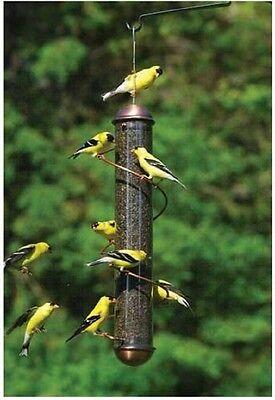 """SONGBIRD ESSENTIALS 17.5"""" COPPER SPIRAL THISTLE (NYJER) BIRD FEEDER, SEBQSBF2C"""