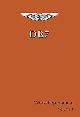 Aston Martin DB7 Vantage Workshop Manuals    2 Volume Set    620 pages