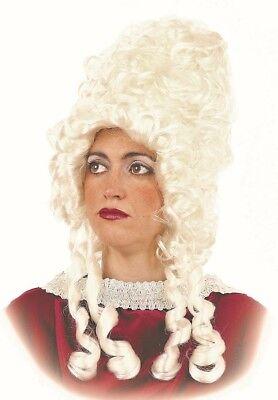 Perücke Hoch weiß MARQUISE Kostüm Frau mittelalterliche neu - Mittelalterliche Kostüme Billig
