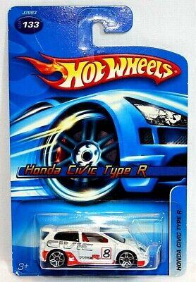 Hot Wheels 2006 White Honda Civic Type R #133 1/64 RARE HTF