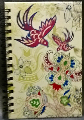 Spiral Journal Birds Medium Lined Both Sides NEW! PICCADILLY 200 PGS. 8.5x5.5