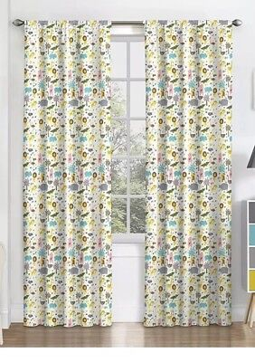 Eclipse Jungle Animal Party Window Curtain Panels PAIR -