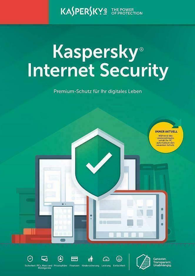 Kaspersky Internet Security 2020 3PC Geräte 1 Jahr Multidevice License Antivirus