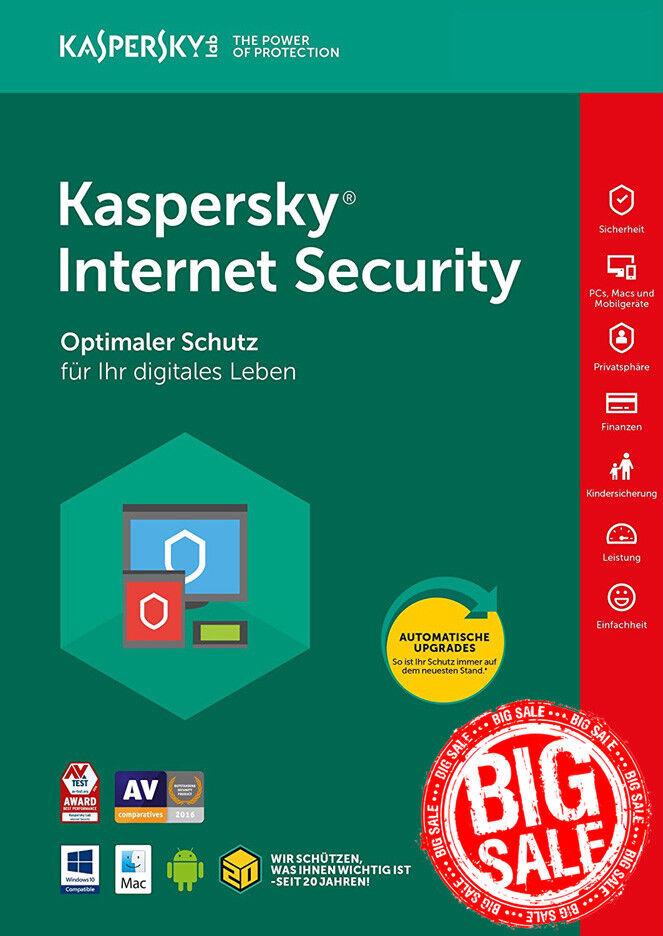 Kaspersky Internet Security 2018 1 PC / Gerät / 1 Jahr / auf PC, Mac und Android