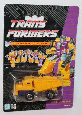 1991 Hasbro Transformers Constructicons G2 European UK Recolor Long Haul MOC