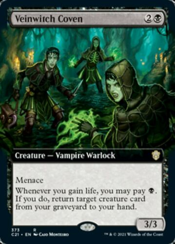 Mtg *veinwitch Coven Extended Art X1*(nm) Commander 2021 Magic Free Shipping