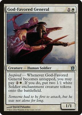 MTG 4x God-Favored General [English, Playset, Born of the Gods, Free P&P]