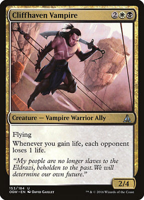 MTG Cliffhaven Vampire [English, Oath of the Gatewatch, Free P&P]