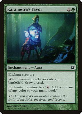 MTG 4x Karametra's Favor [English, Playset, Born of the Gods, Free P&P]