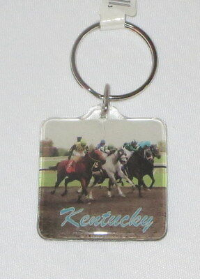 Kentucky Keychain Derby Horses New Key Ring Chain State Souvenir Horse Racing