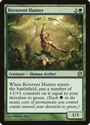 MTG 4x Reverent Hunter [English, Playset, Theros, Free P&P]