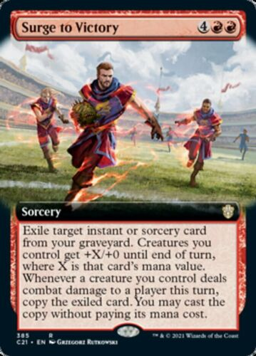 Mtg *surge To Victory Extended Art X1* (nm) Commander 2021 Magic Free Shipping