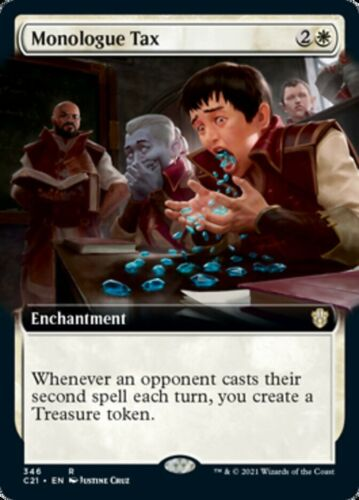 Mtg *monologue Tax Extended Art X1*(nm) Commander 2021 Magic Free Shipping