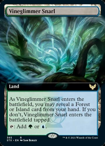 Mtg *vineglimmer Snarl Extended Art X4* (nm) Strixhaven Magic Free Shipping