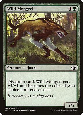 MTG Wild Mongrel [English, Duel Decks Anthology, Free P&P]