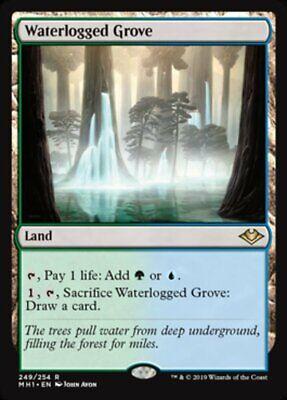 *MtG: WATERLOGGED GROVE - Modern Horizons Rare - magicman-europe*