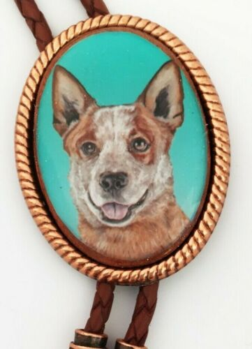 Australian Cattle Dog Queensland Heeler Wearable Art Classic Bolo Tie