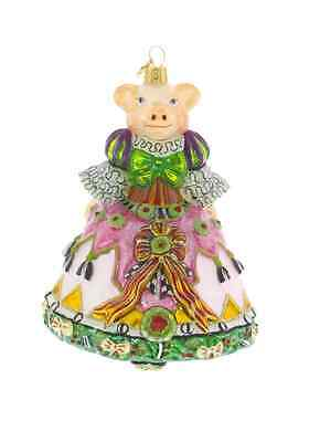 MacKenzie-Childs Christmas Ornament Pigeen Pig-Chicken Palace Ball Collection