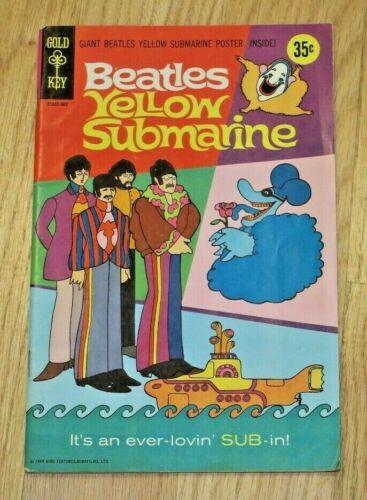 1968  BEATLES YELLOW SUBMARINE GOLD KEY COMIC BOOK W/POSTER