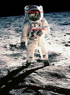 BUZZ ALDRIN PHOTO 8.5X11 Astronaut NASA Space On The Moon Apollo 11 Memorabilia