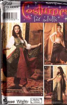 GYPSY Harem GIRL HALLOWEEN COSTUME Pattern Sz 6-8-10-12 ADULT - Gypsy Halloween Costume Pattern