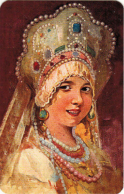 RUSSIAN BEAUTY young woman in traditional festive outfit Modern Russian - Traditional Russian Outfit
