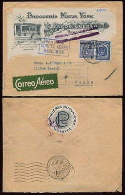 AIRMAIL ILL.ADVERTISING COVER COLOMBIA 1932 +AIR SLOGAN
