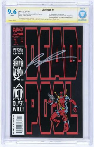 DEADPOOL #1 (1993) 9.6 SIGNED Liefeld 1st Solo Series Circle Chase CBCS not cgc