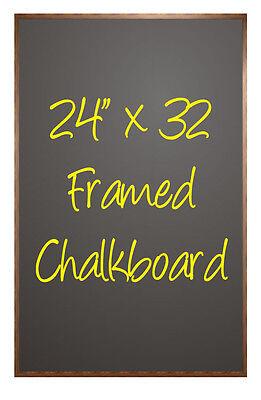 Menu Sign Framed Chalkboard 24 X 32 Use Chalk Or Liquid Chalk Large Black