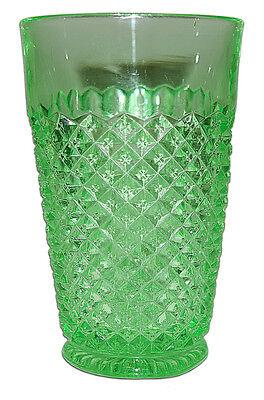 Westmoreland English Hobnail Green Depression Era Juice Tumbler