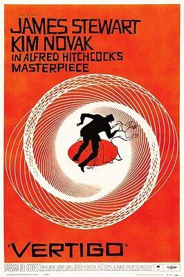 Vertigo POSTER Alfred Hitchcock  *MUST SEE*  James Stewart Kim Novak Saul Bass