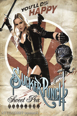 Sucker Punch Retro Pinup (Sweet Pea) Movie Poster (24