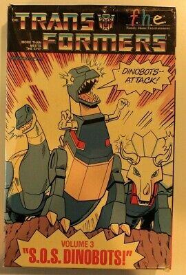 Trans Formers - S.O.S Dinobots - volume 3 (VHS 1984)Big Box Rare***