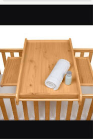 Tutti Bambini Cot top nursery changer, with pull out side tables