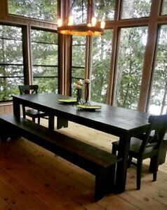 Custom harvest tables and woodworks