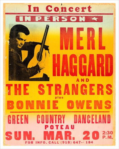 Merle Haggard concert poster print