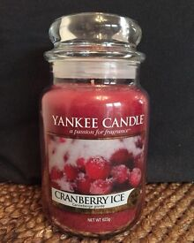 Cranberry Ice Large Yankee New