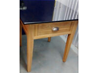 Vancouver Solid Oak and Granite Topped, One Drawer Side Table /Pastry Table