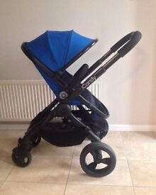 NEW shop display model, ICandy Peach Cobalt Blue with NEW boxed seat liner