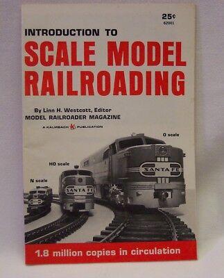 VINTAGE INTRODUCTION TO SCALE MODEL RAILROADING Linn H. Westcott BOOK BOOKLETT